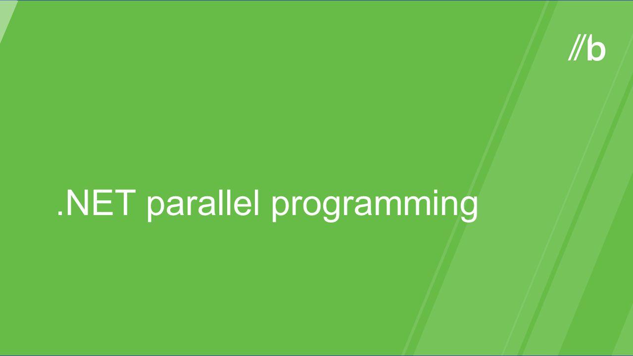 .NET parallel programming