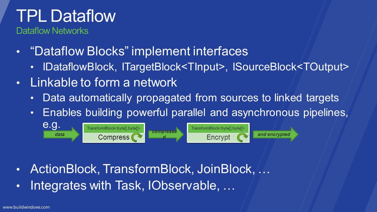 TPL Dataflow Dataflow Networks