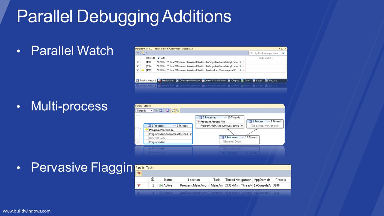 Parallel Debugging Additions