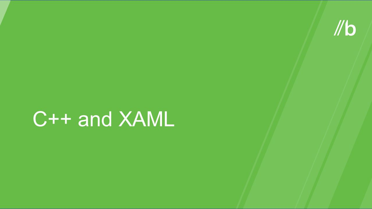 C++ and XAML