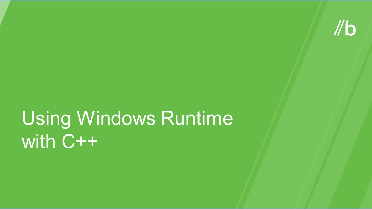 Using Windows Runtime with C++