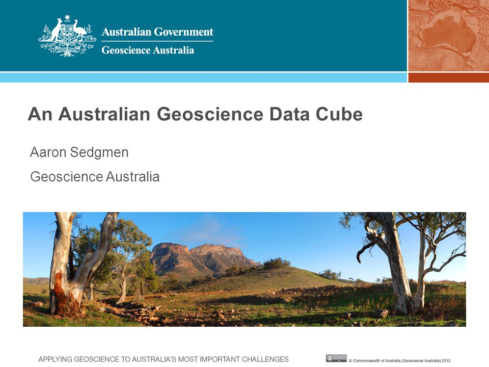 An Australian Geoscience Data Cube