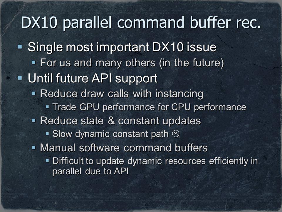 DX10 parallel command buffer rec.