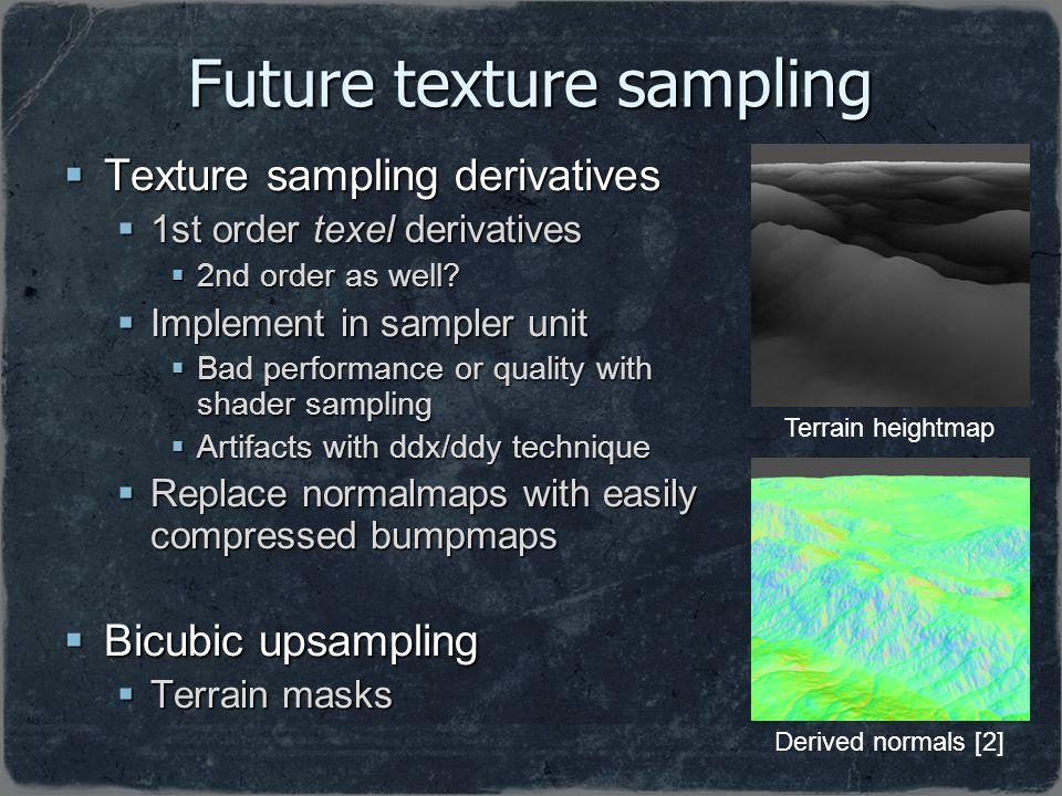 Future texture sampling