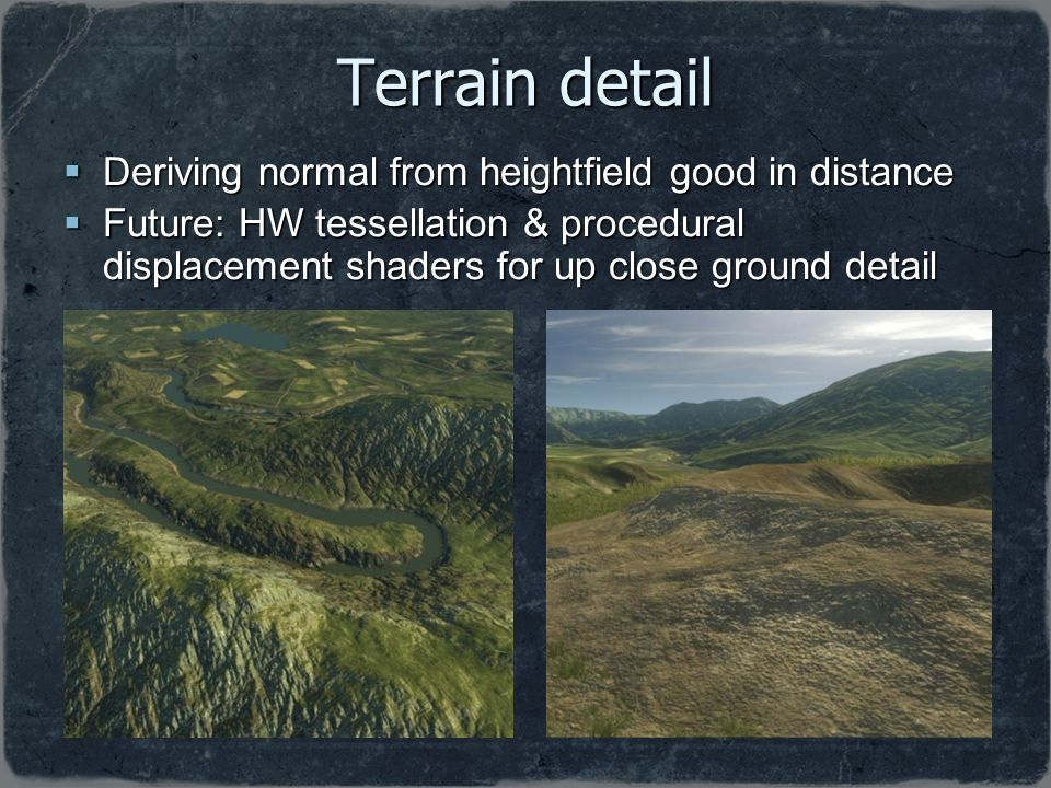 Terrain detail Deriving normal from heightfield good in distance