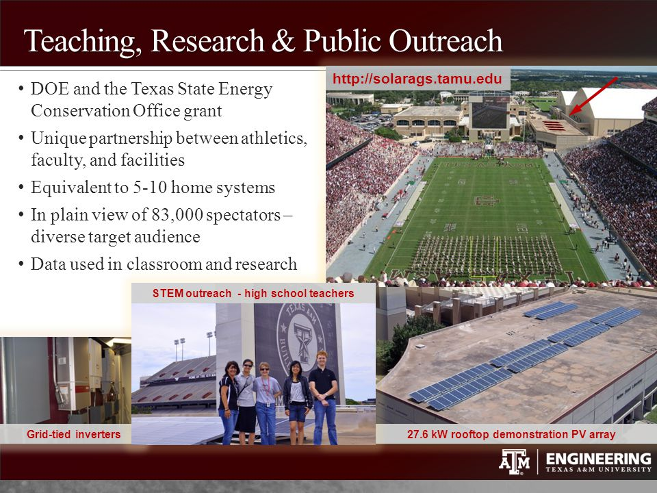 Teaching, Research & Public Outreach
