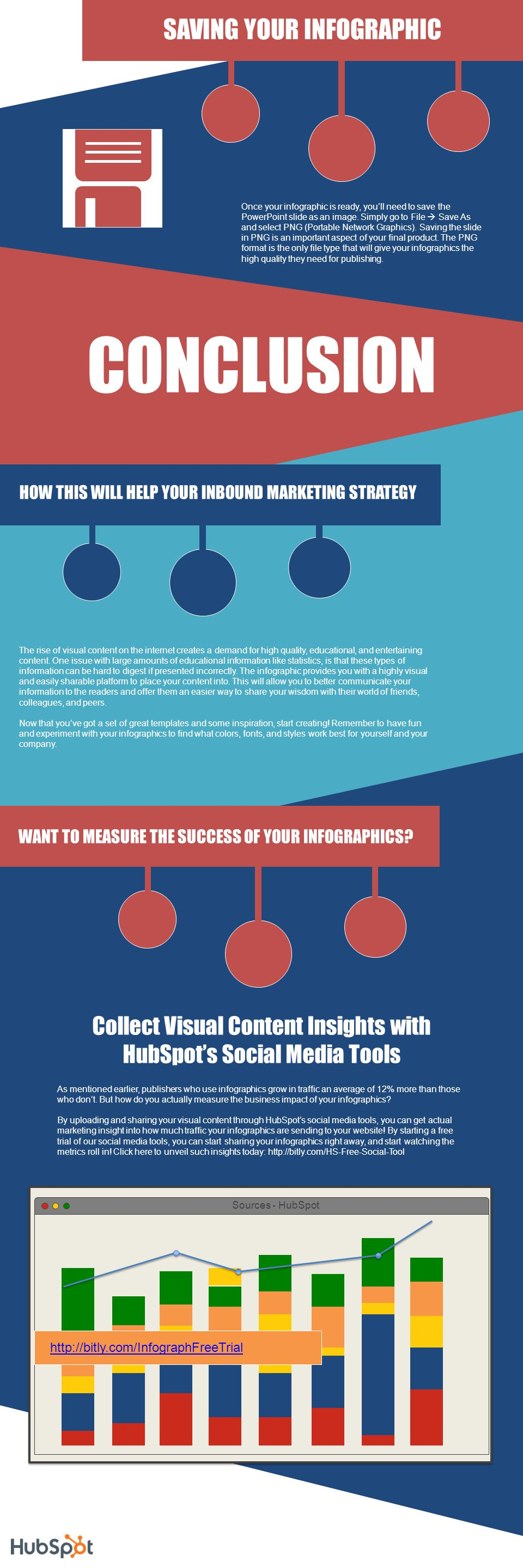 CONCLUSION SAVING YOUR INFOGRAPHIC