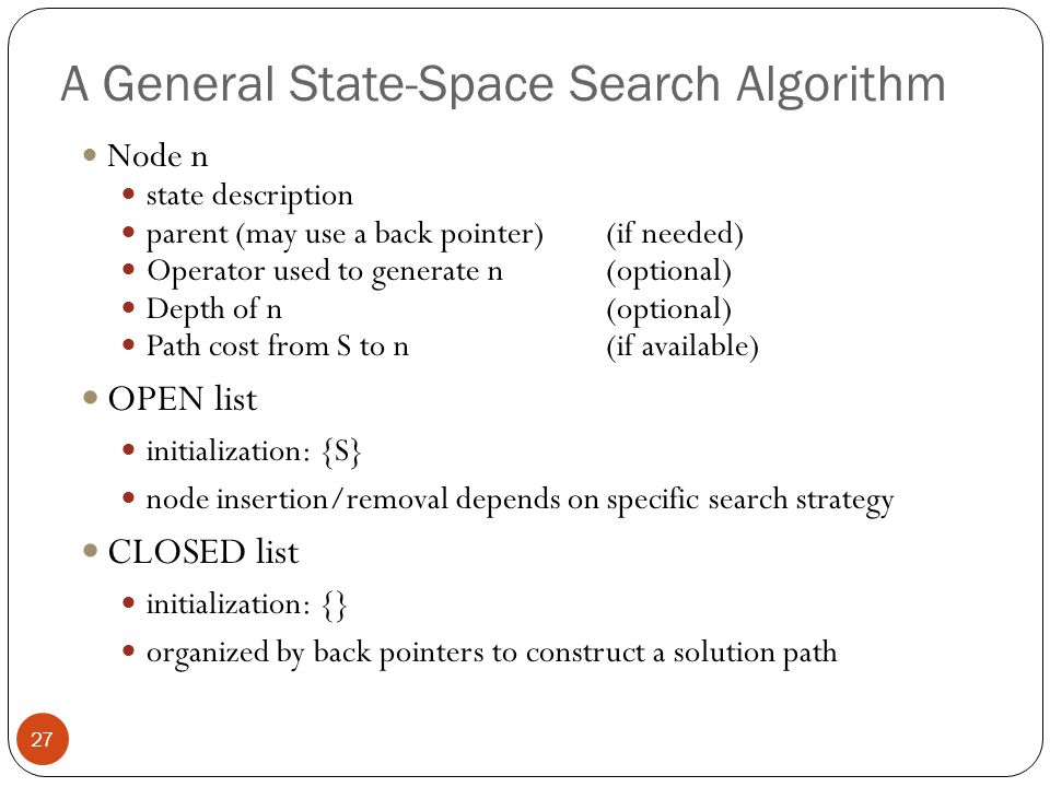 A General State-Space Search Algorithm