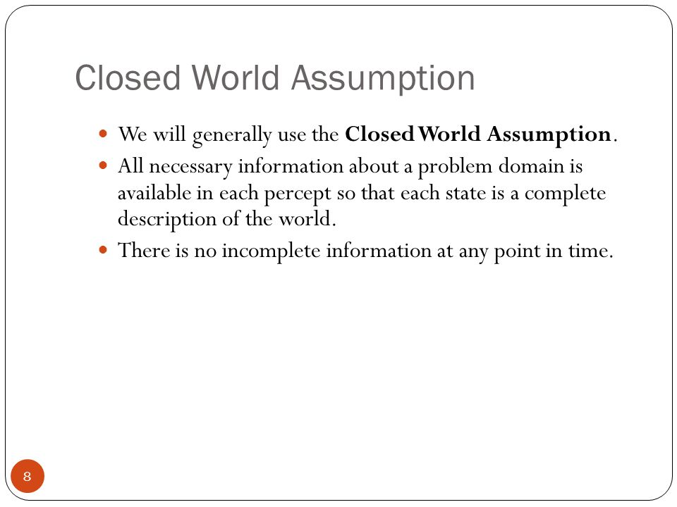 Closed World Assumption