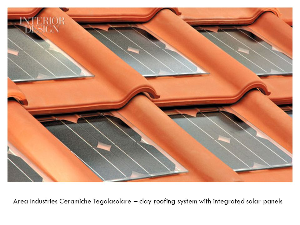 Area Industries Ceramiche Tegolasolare – clay roofing system with integrated solar panels
