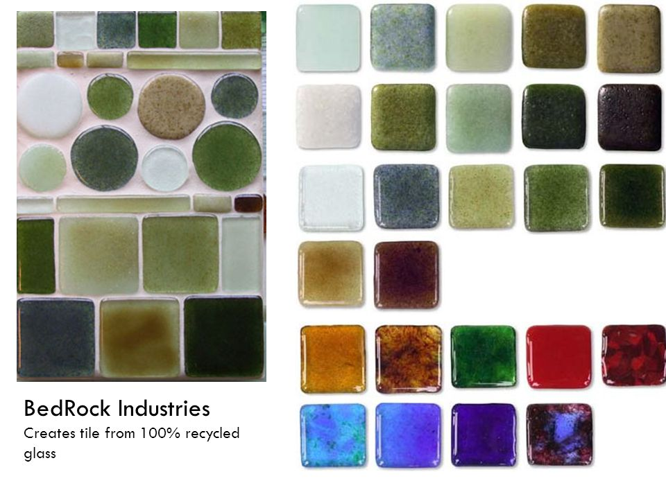 BedRock Industries Creates tile from 100% recycled glass
