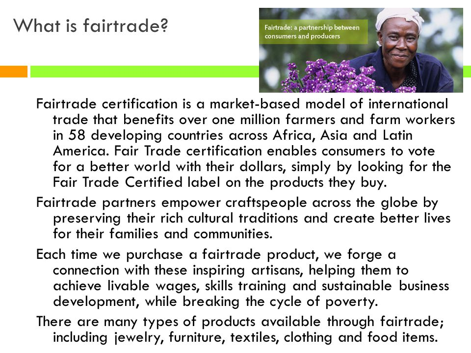 What is fairtrade
