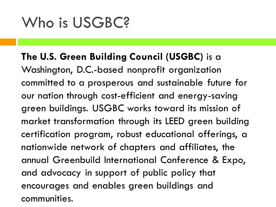 Who is USGBC