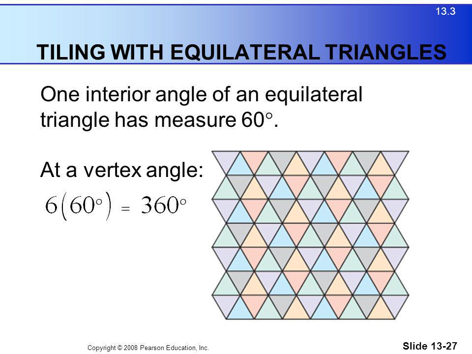 TILING WITH EQUILATERAL TRIANGLES
