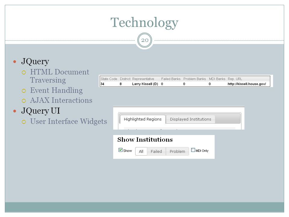 Technology JQuery JQuery UI HTML Document Traversing Event Handling