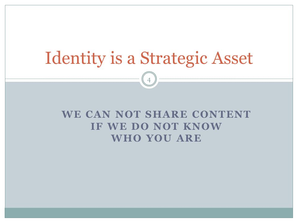 Identity is a Strategic Asset