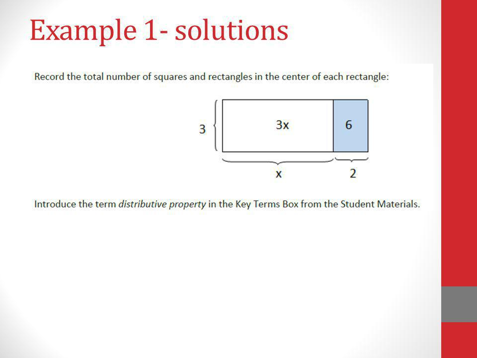 Example 1- solutions