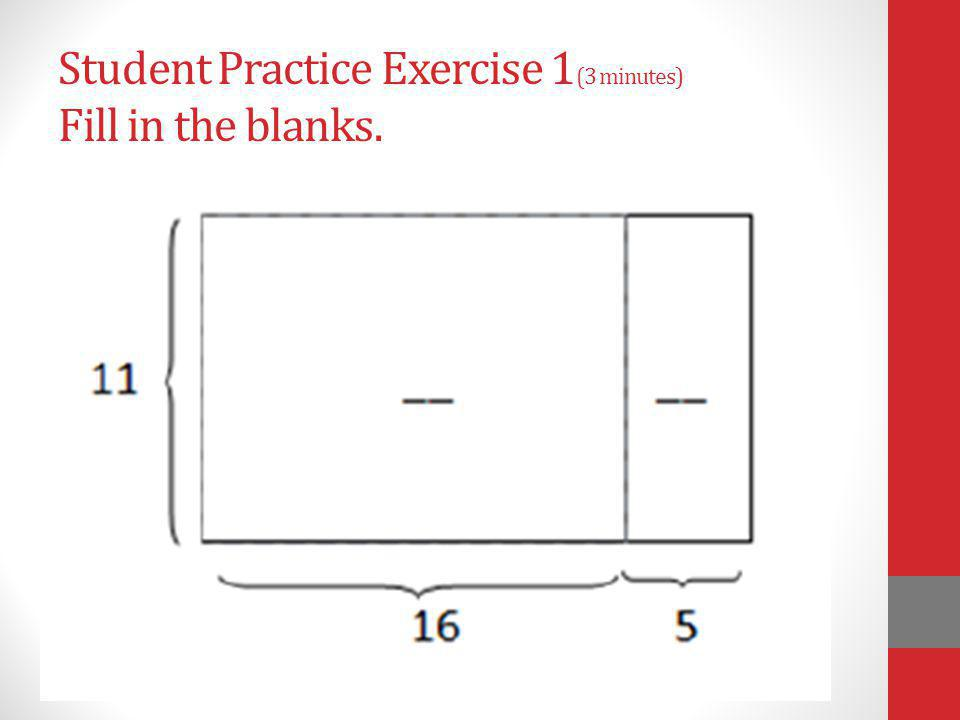Student Practice Exercise 1(3 minutes) Fill in the blanks.