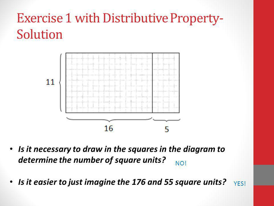 Exercise 1 with Distributive Property- Solution