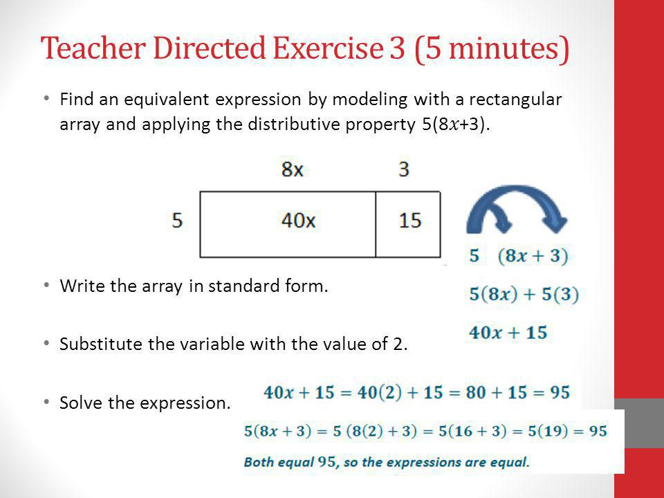 Teacher Directed Exercise 3 (5 minutes)