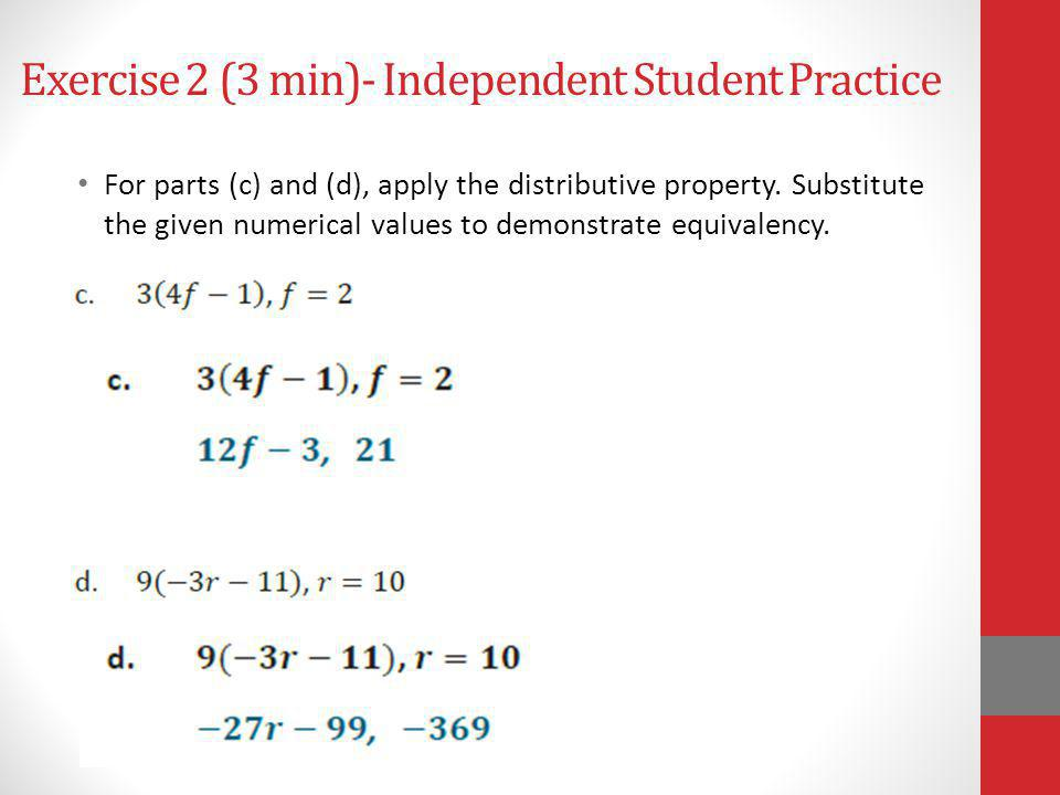 Exercise 2 (3 min)- Independent Student Practice
