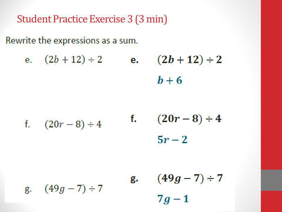 Student Practice Exercise 3 (3 min)