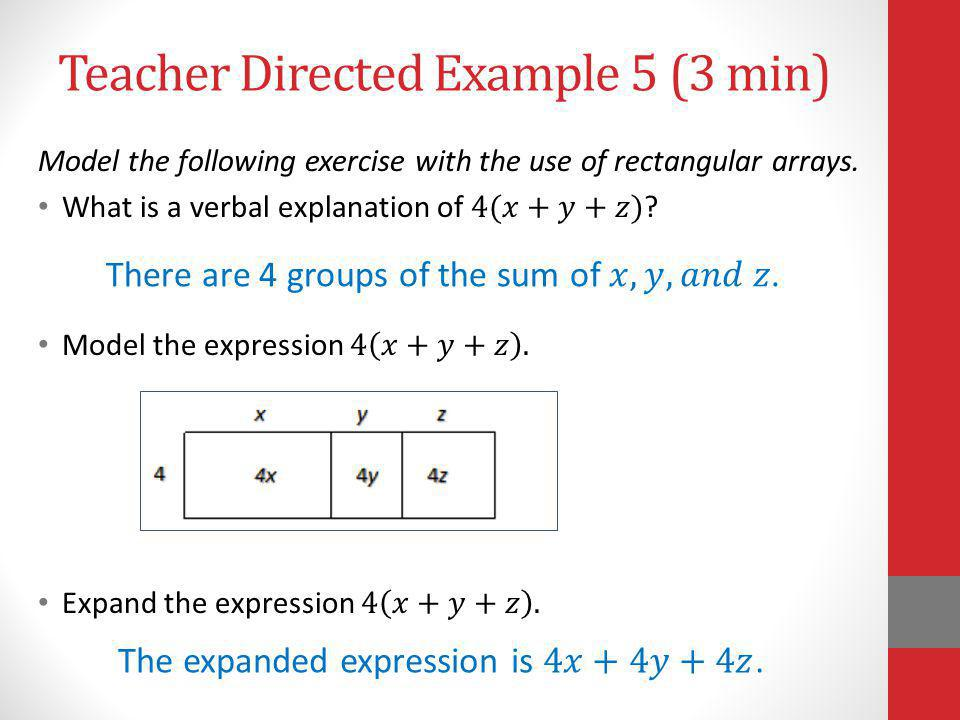 Teacher Directed Example 5 (3 min)