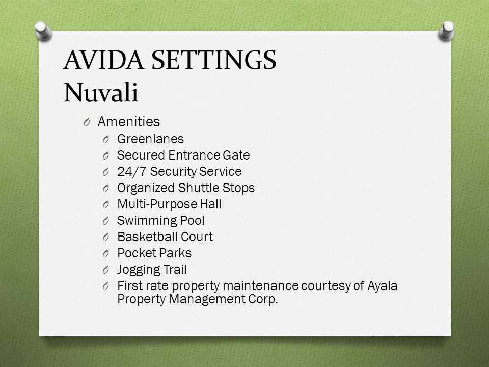 AVIDA SETTINGS Nuvali Amenities Greenlanes Secured Entrance Gate