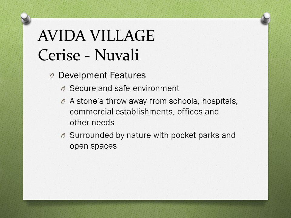 AVIDA VILLAGE Cerise - Nuvali