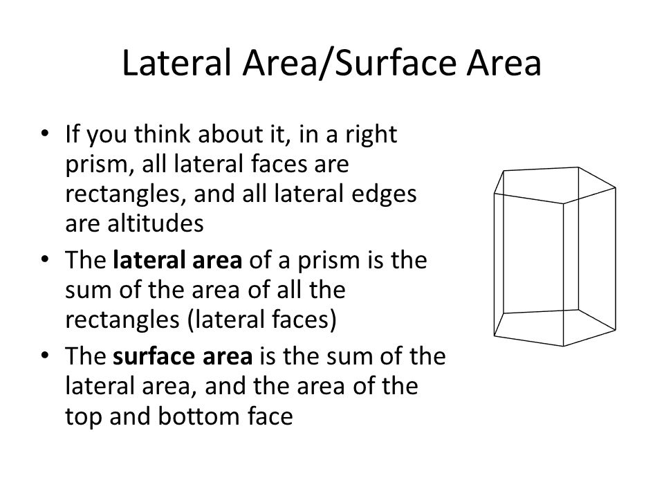 Lateral Area/Surface Area