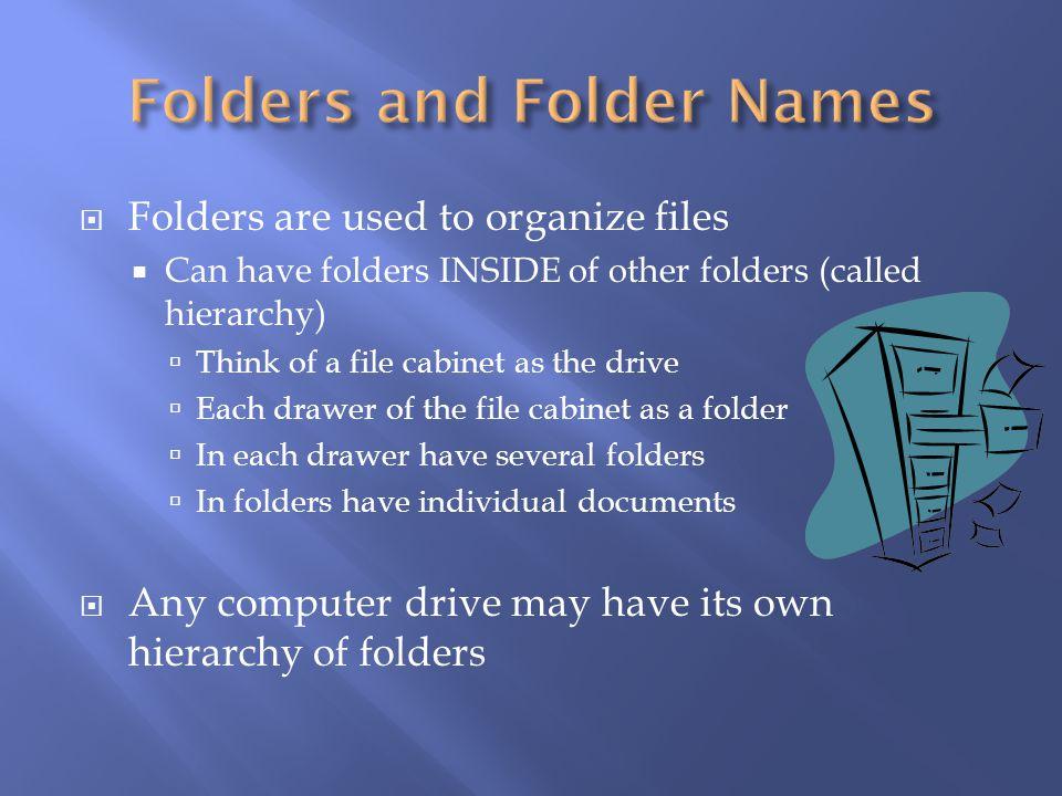 Folders and Folder Names