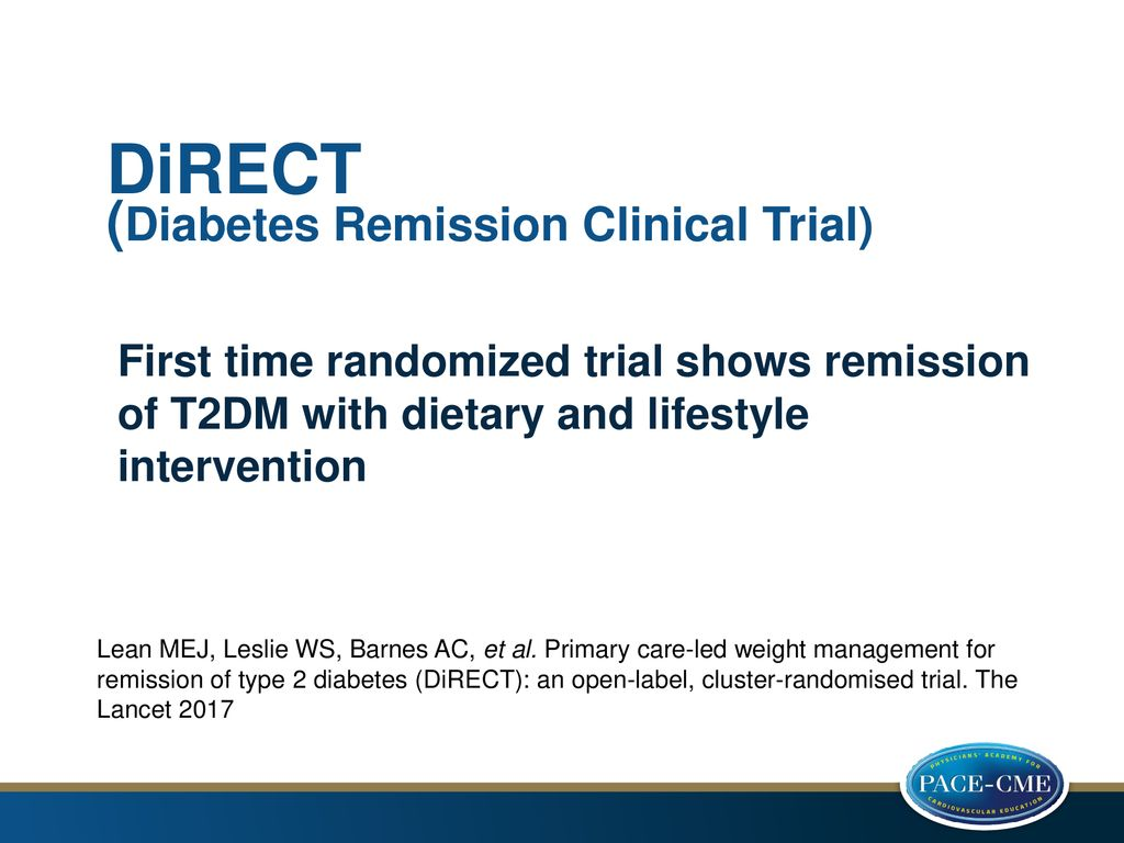 DiRECT (Diabetes Remission Clinical Trial)