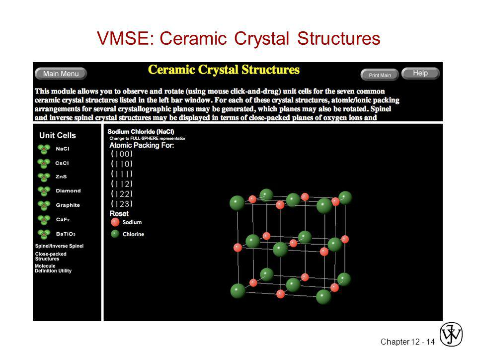 VMSE: Ceramic Crystal Structures