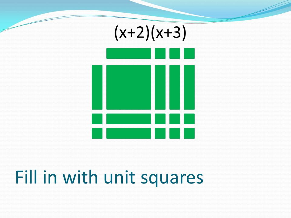 Fill in with unit squares