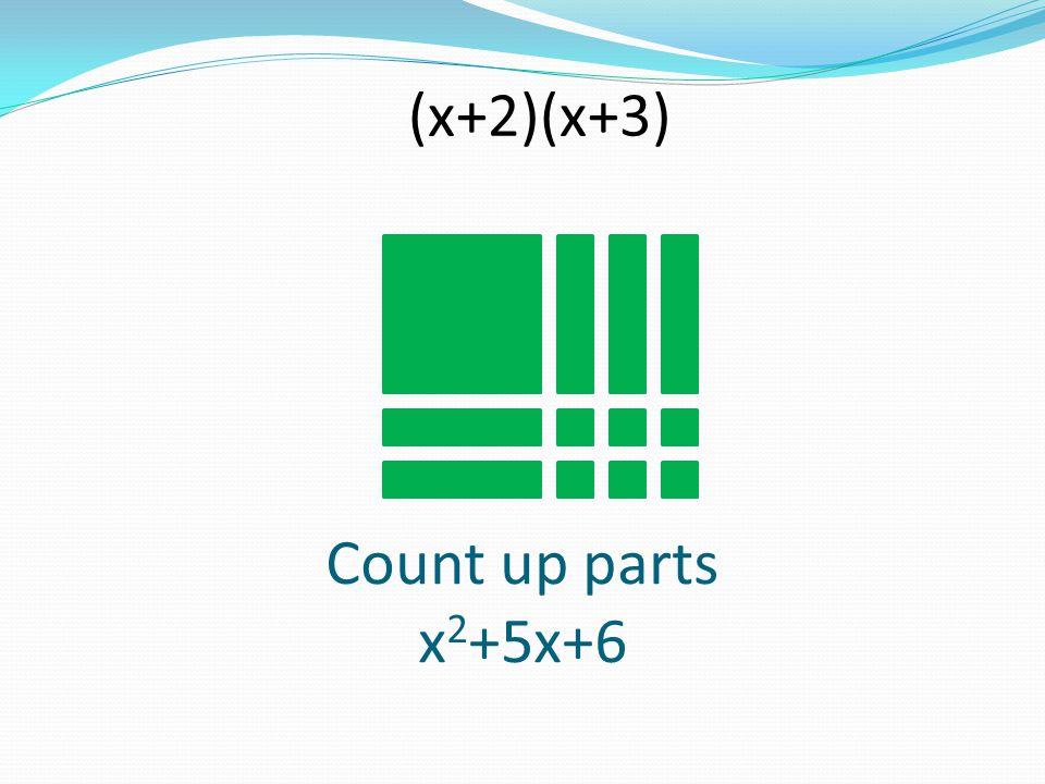 (x+2)(x+3) Count up parts x2+5x+6