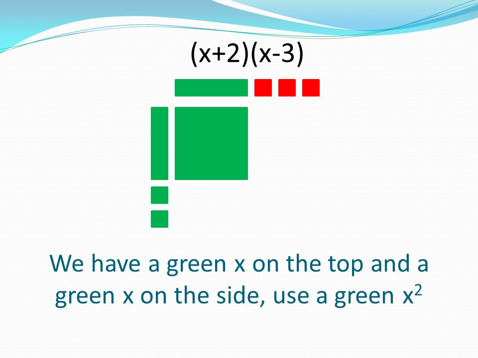 We have a green x on the top and a green x on the side, use a green x2