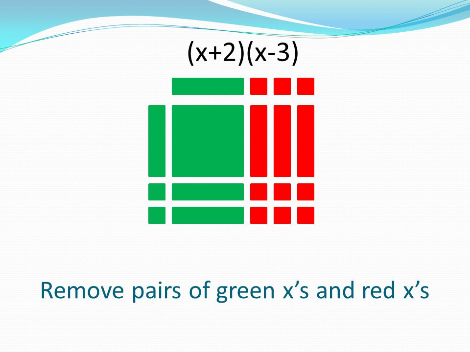 Remove pairs of green x's and red x's