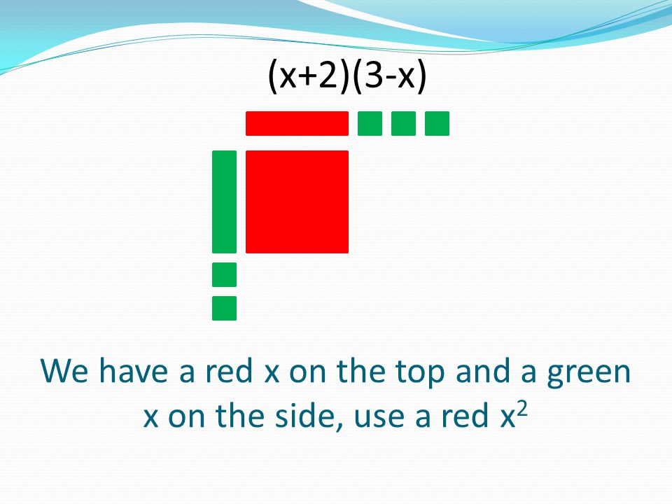 We have a red x on the top and a green x on the side, use a red x2