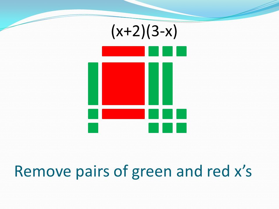 Remove pairs of green and red x's