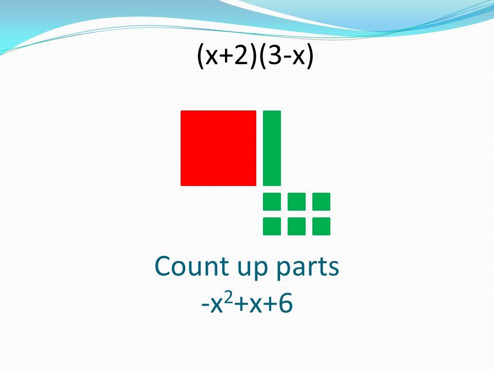 (x+2)(3-x) Count up parts -x2+x+6