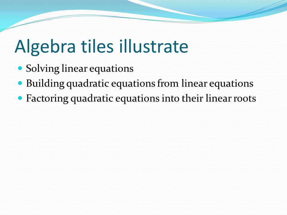 Algebra tiles illustrate