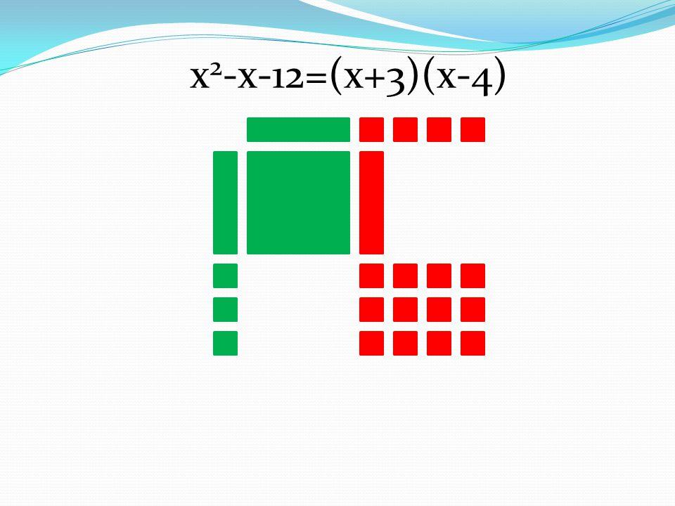 x2-x-12=(x+3)(x-4)