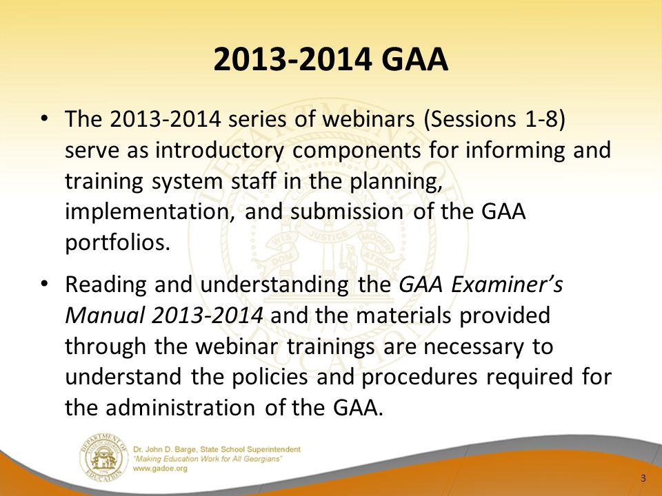 2013-2014 GAA