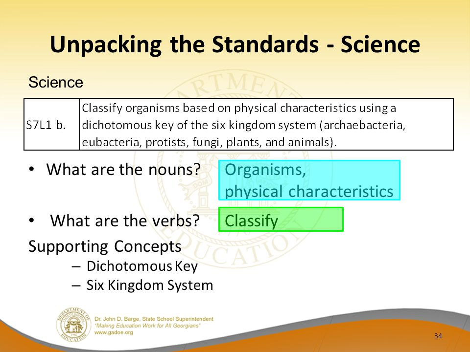 Unpacking the Standards - Science