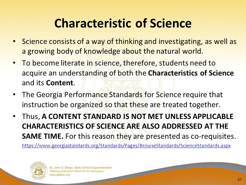 Characteristic of Science