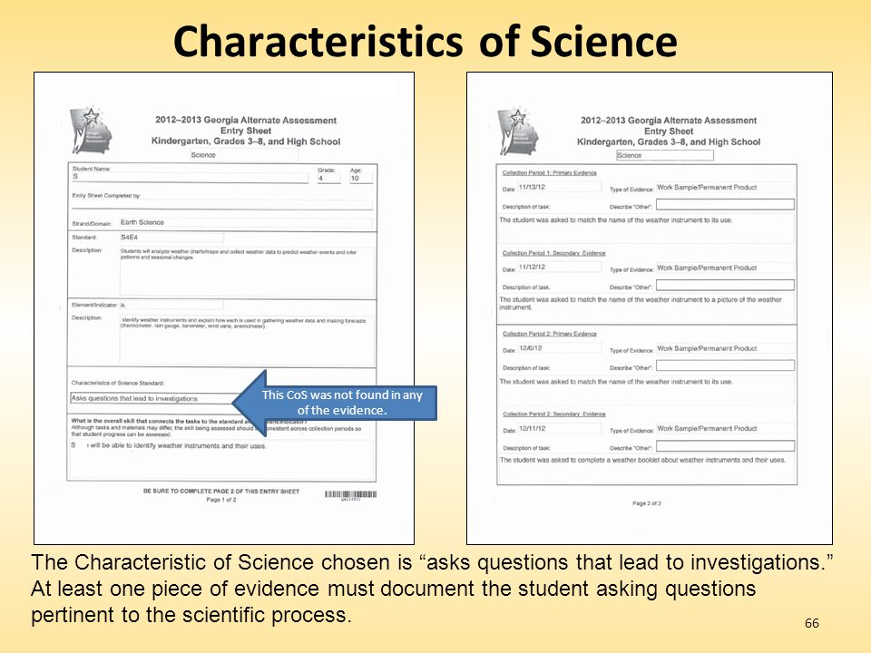 Characteristics of Science