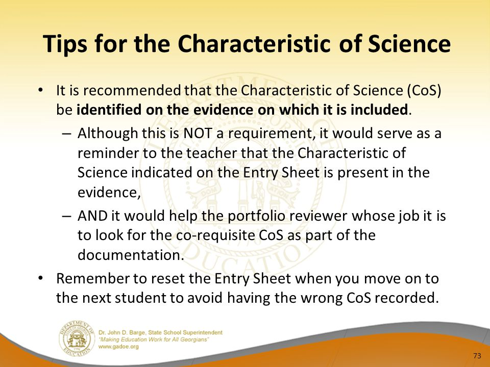 Tips for the Characteristic of Science
