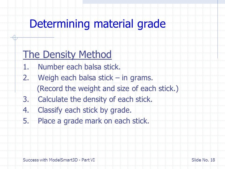 Determining material grade