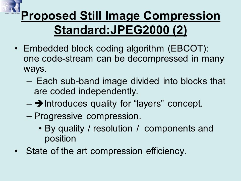 Proposed Still Image Compression Standard:JPEG2000 (2)