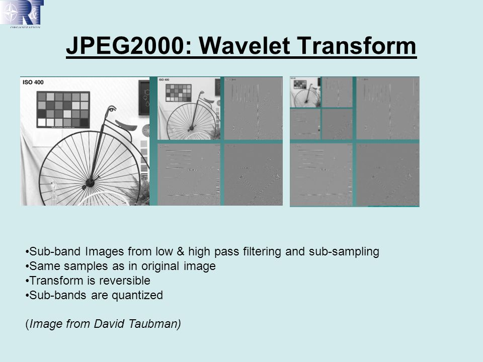 JPEG2000: Wavelet Transform